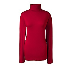 Lands' End - Red cotton/modal roll neck