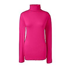 Lands' End - Pink petite cotton/modal roll neck top