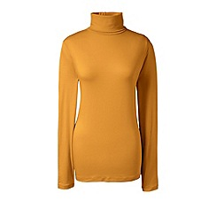 Lands' End - Orange cotton/modal roll neck