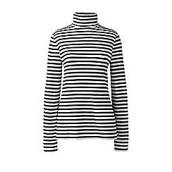 Lands' End - Cream stripe roll neck top