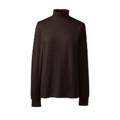 Lands' End - Brown regular long sleeves polo neck top