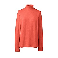 Lands' End - Orange regular long sleeves polo neck