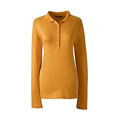 Lands' End - Orange long sleeve pima polo