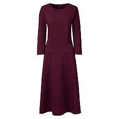 Lands' End - Red ponte jersey flounce dress