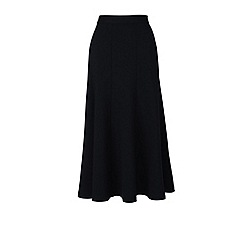 Lands' End - Black ponte jersey midi skirt
