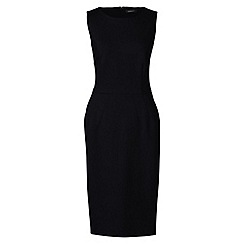 Lands' End - Black ponte jersey sleeveless darted dress