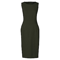 Lands' End - Green ponte jersey sleeveless darted dress