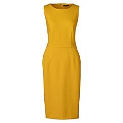 Lands' End - Yellow ponte jersey sleeveless darted dress
