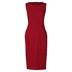 Lands' End - Red ponte jersey sleeveless darted dress