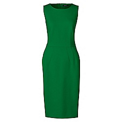 Lands' End - Green ponte jersey sleeveless darted dress