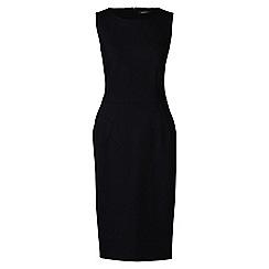 Lands' End - Black petite ponte jersey sleeveless darted dress