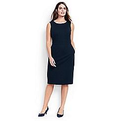 Lands' End - Black ponte jersey sleeveless darted dress