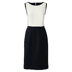 Lands' End - White sleeveless colourblock shift dress