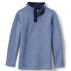Lands' End - Blue boys' sweater fleece jumper