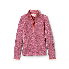 Lands' End - Pink girls' sweater fleece half-zip jumper