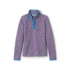 Lands' End - Purple girls' sweater fleece half-zip jumper