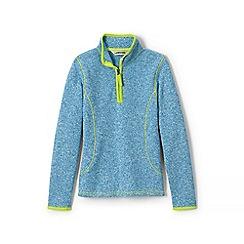 Lands' End - Blue girls' sweater fleece half-zip jumper