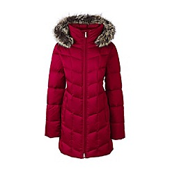 Lands' End - Pink tall hyperdry down shimmer parka