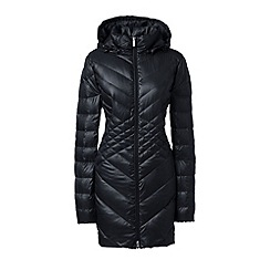 Lands' End - Black lightweight packable hyperdry down parka