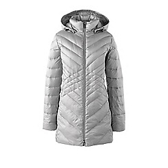 Lands' End - Grey tall lightweight packable hyper dry down parka