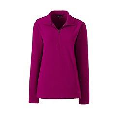Lands' End - Purple fleece 100 half-zip