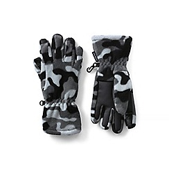 Lands' End - Black ez touch thermacheck-200 patterned gloves