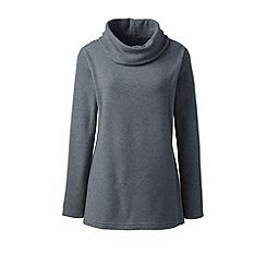 Lands' End - Grey thermacheck-100 fleece cowl neck tunic
