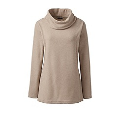 Lands' End - Beige thermacheck-100 fleece cowl neck tunic