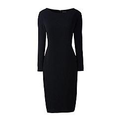 Lands' End - Black boatneck cocoon dress