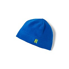 Lands' End - Blue theremacheck-200 fleece beanie hat