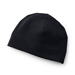 Lands' End - Black theremacheck-200 fleece beanie hat