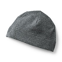 Lands' End - Grey theremacheck-200 fleece beanie hat
