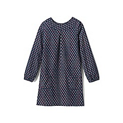 Lands' End - Girls' blue print a-line corduroy dress