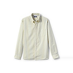 Lands' End - Yellow regular traditional fit patterned sail rigger oxford shirt