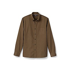 Lands' End - Brown regular traditional fit sail rigger oxford shirt