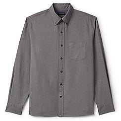 Lands' End - Grey regular traditional fit sail rigger oxford shirt