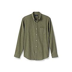 Lands' End - Green regular chambray shirt