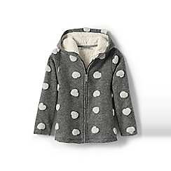 Lands' End - Girls' grey sherpa hearts jacket