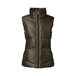 Lands' End - Grey tall hyperdry shimmer down gilet