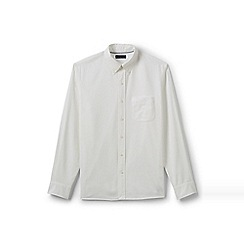 Lands' End - White regular traditional fit sail rigger oxford shirt