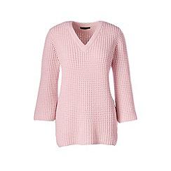 Lands' End - Pink lofty cotton textured v-neck