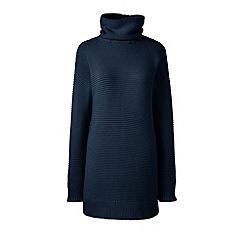 Lands' End - Blue lofty cotton rollneck tunic
