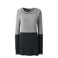 Lands' End - Grey shaker colourblock tunic