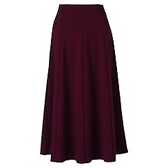 Lands' End - Red jacquard ponte jersey midi skirt