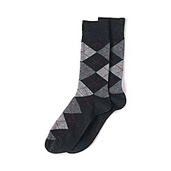 Lands' End - Grey cotton-rich dress socks