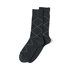 Lands' End - Grey cotton-rich dress socks