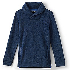 Lands' End - Blue boys' shawl collar top