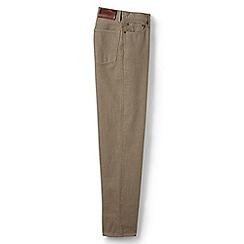 Lands' End - Beige pre-hemmed coloured traditional fit jeans