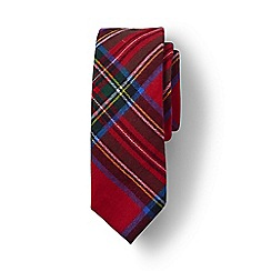 Lands' End - Red boys' brushed cotton plaid tie