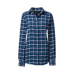 Lands' End - Green brushed flannel shirt
